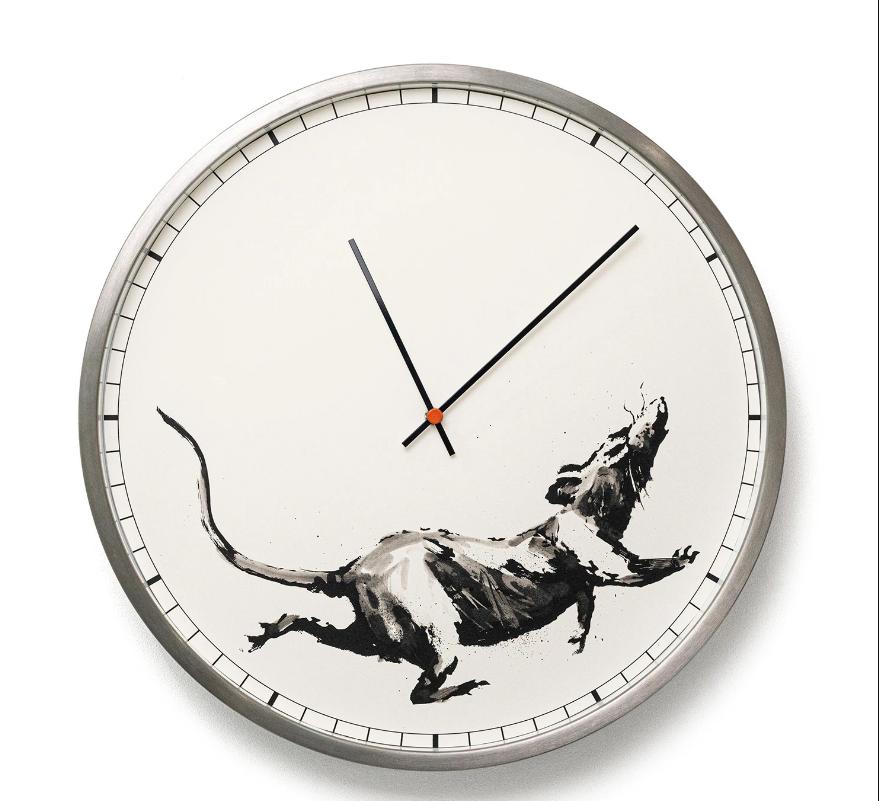 часы бенкси