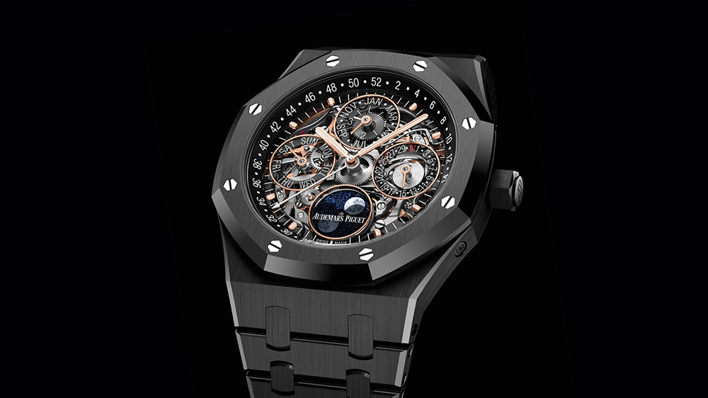 роскошь в часах Royal Oak Perpetual Calendar Black Ceramic Model