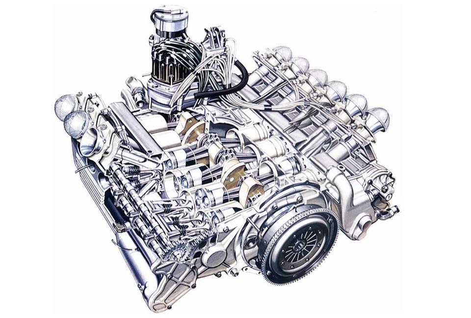 3-литровый 12-цилиндровый горизонтально-оппозитный двигатель