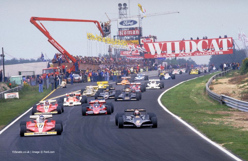 Старт Гран При Бельгии '78