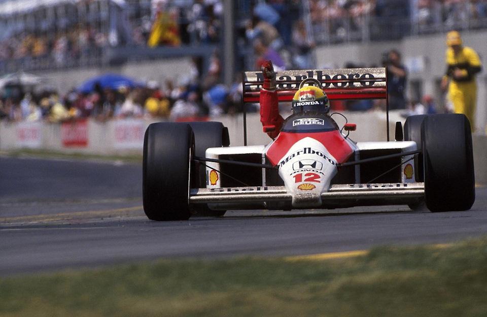 Айртон Сенна побеждает в Гран При Канады '88