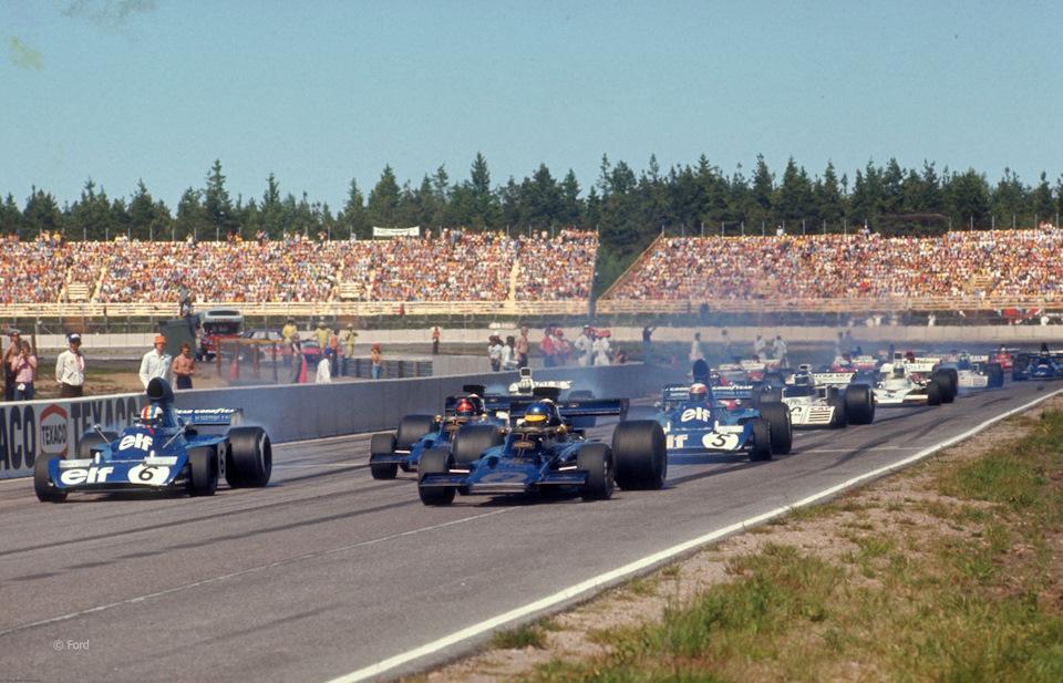 Старт Гран При Швеции '73