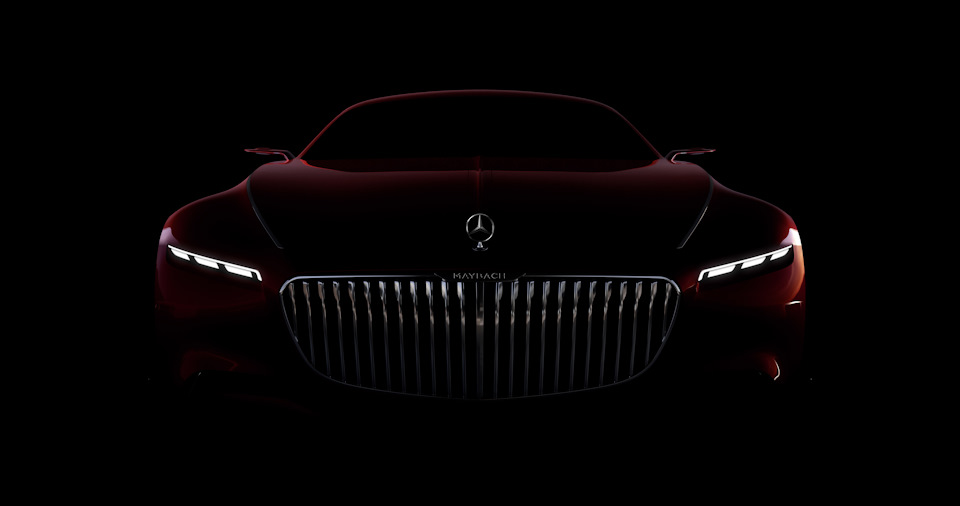 Vision Mercedes-Maybach 6 в темноте