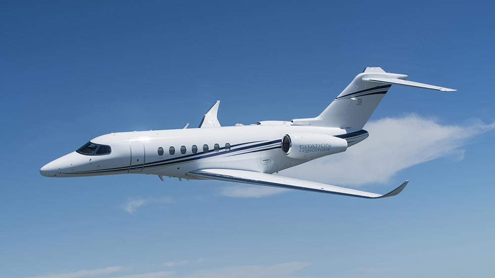 полёт Cessna Citation Longitude