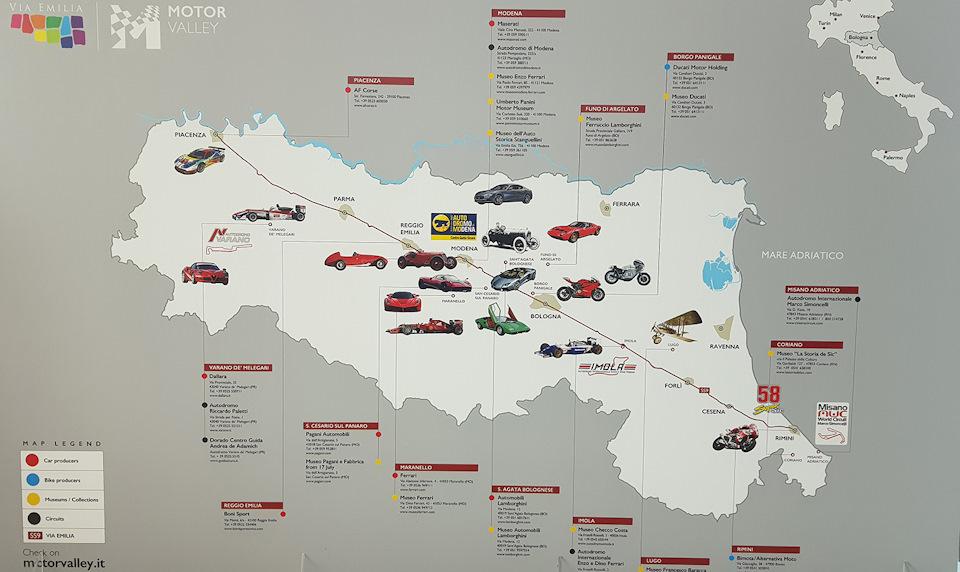 долина моторов в италии