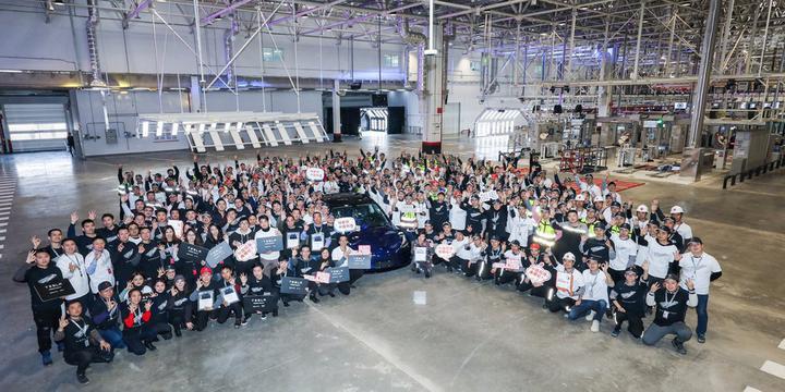 Завод Tesla в Китае