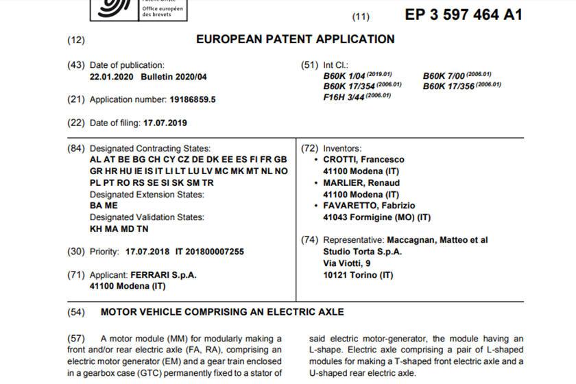 патенты феррари