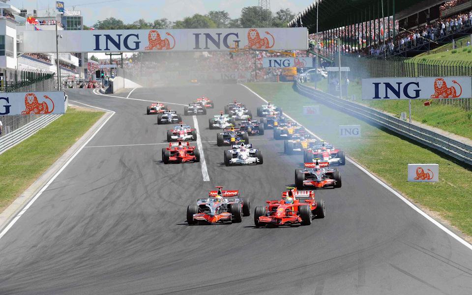 Старт Гран При Венгрии '08