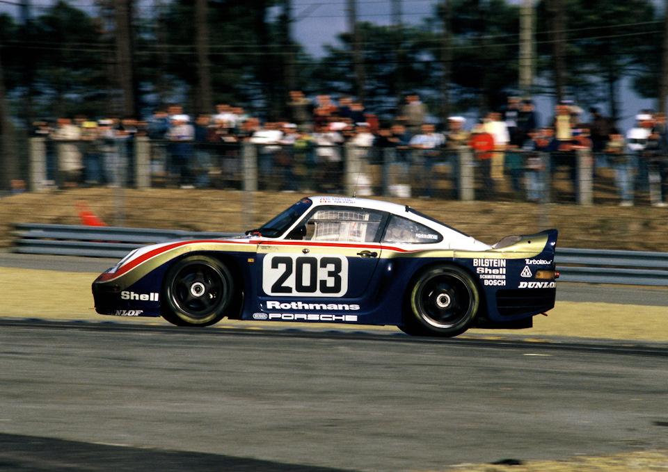 Porsche 961 экипажа Рене Метж/Клод Халди/Кис Нироп во время «24 часов Ле-Мана» '87.