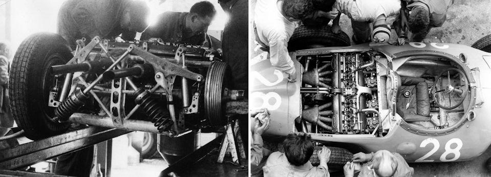 Необычные идеи, нашедшие воплощение в Bugatti Type 251 – перекрестные рычаги подвески и двигатель, расположенным поперечно в базе