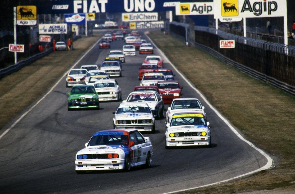 Первый круг этапа в Монце 1987 года.