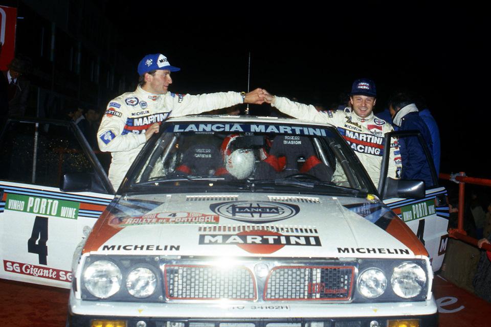 Массимо Биазон и Тициано Сивьеро на Lancia Delta HF Integrale 8V – триумфаторы «Ралли Португалии» '88.