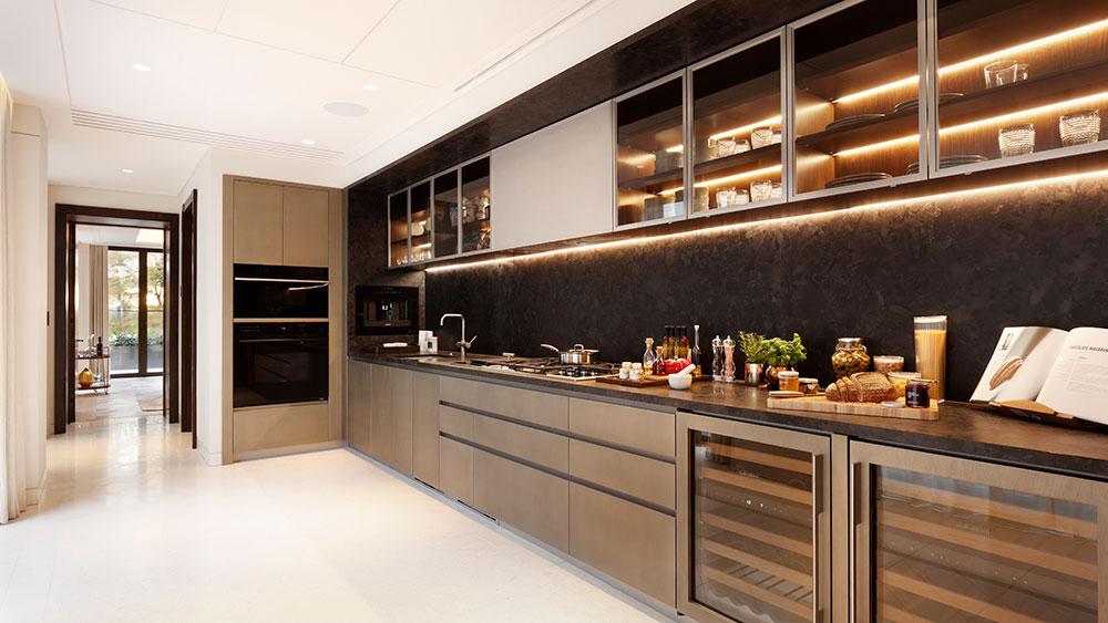 кухня в пентхаусе в Лондоне