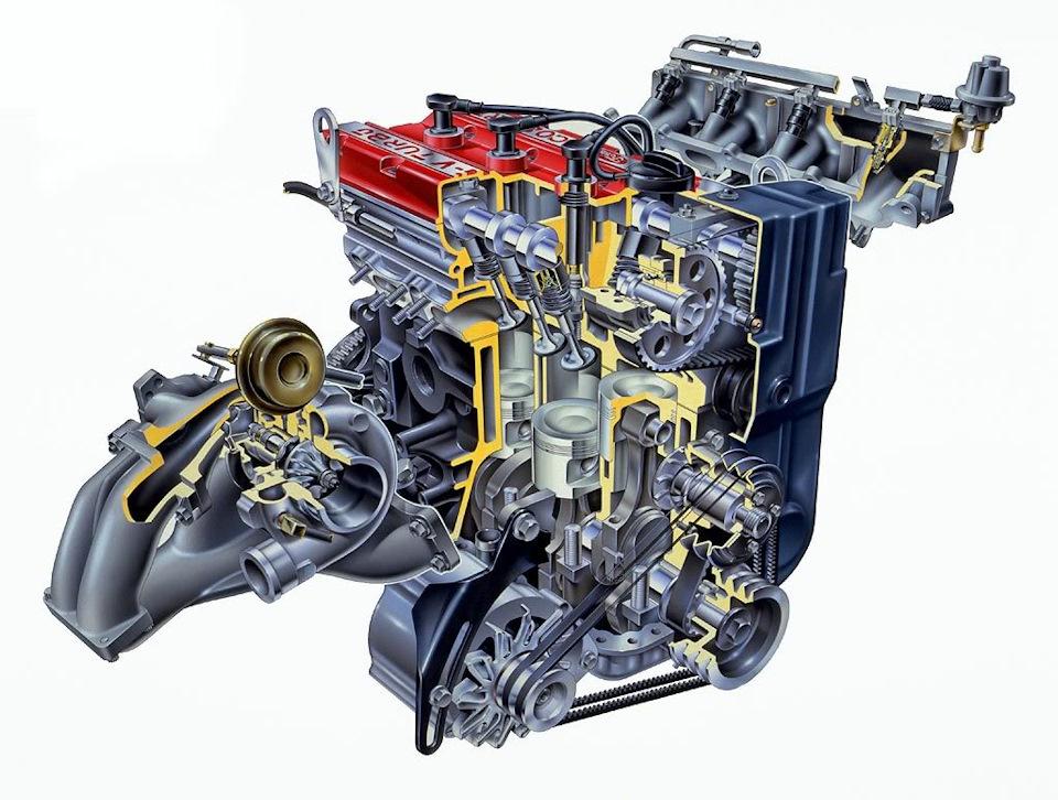 двигатель Ford-Cosworth YBB