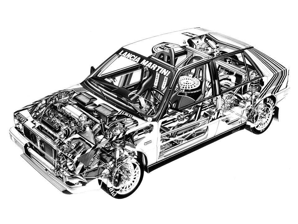 Lancia Delta HF 4WD схема