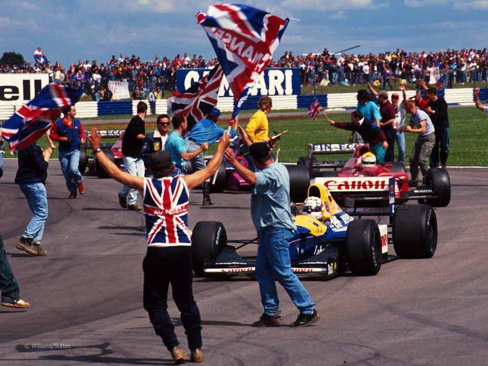 Безумие на круге почета Гран При Великобритании '92.