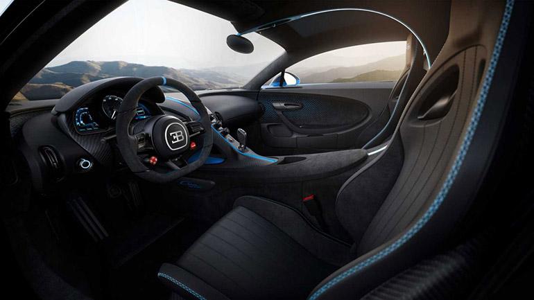 Bugatti Chiron Pur Sport салон и характеристики