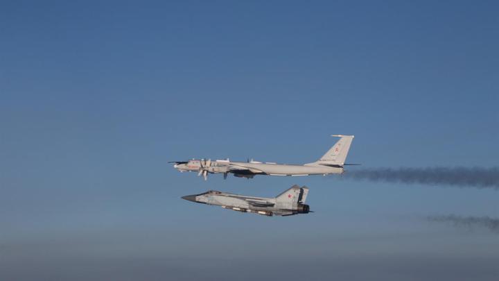 перехваченные российские самолёты