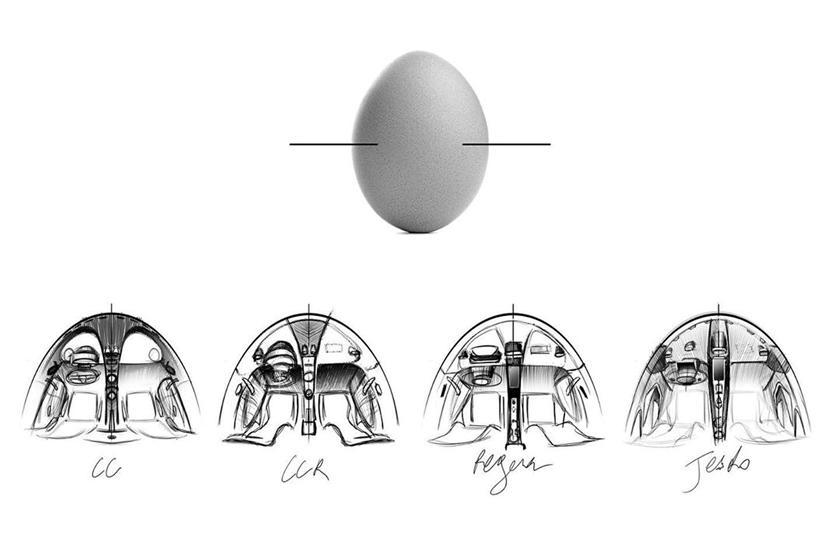 яйцо Koenigsegg Gemera