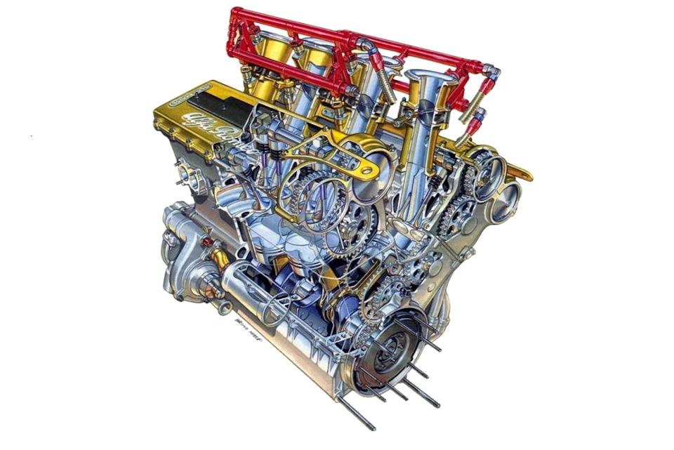 Двигатель Alfa Romeo V6 (60°) считался самым мощным в DTM