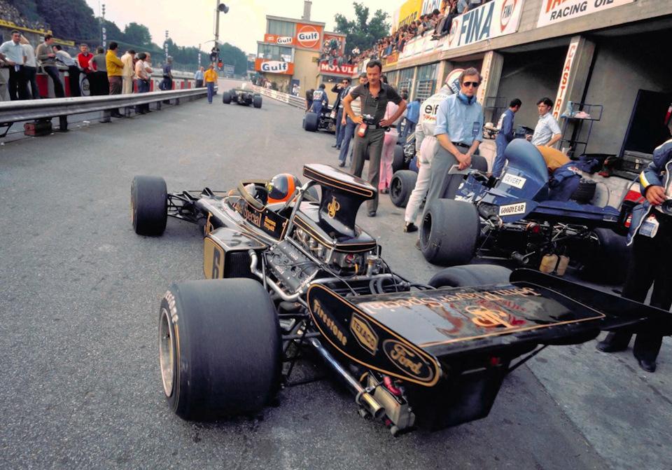 Фиттипальди на Lotus 72D