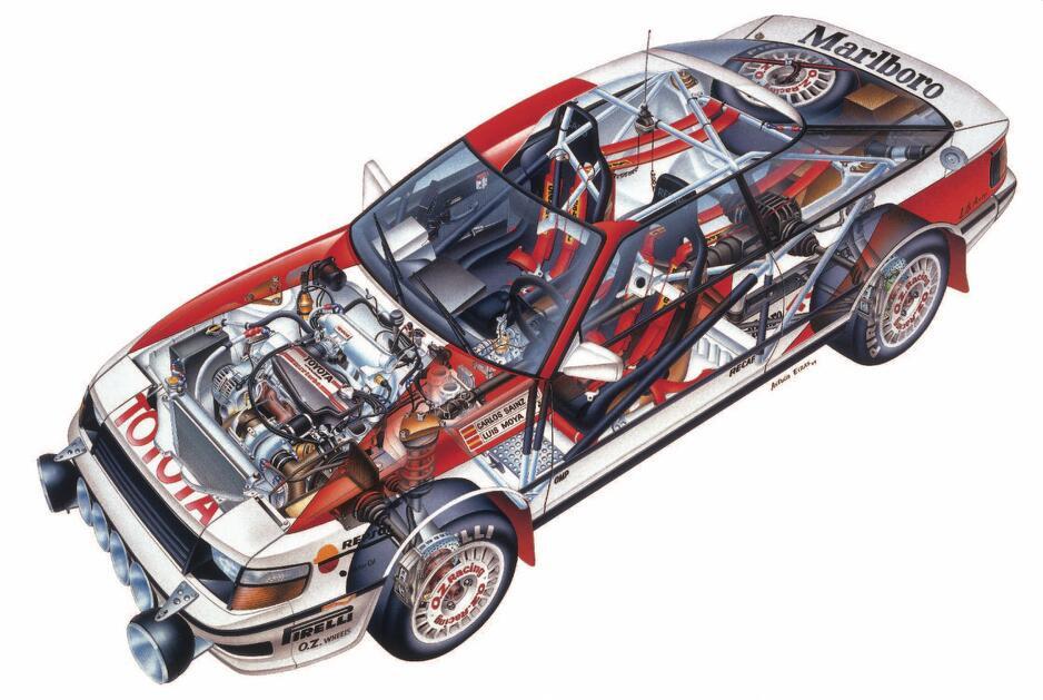 Toyota Celica GT-Four ST165 схема