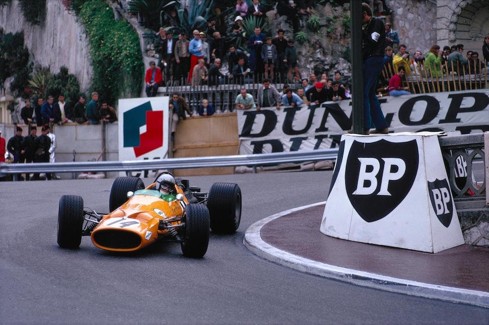 Брюс МакЛарен на McLaren M7A Ford. Гран При Монако '68.
