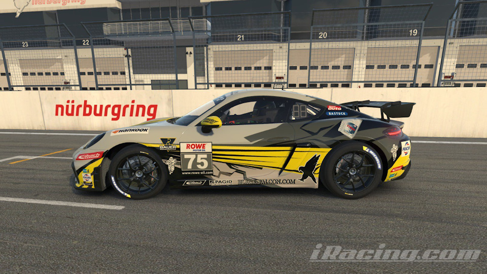 Виртуальный Cayman GT4 от iRacing и Black Falcon идеально повторяет вид и повадки своего реального близнеца