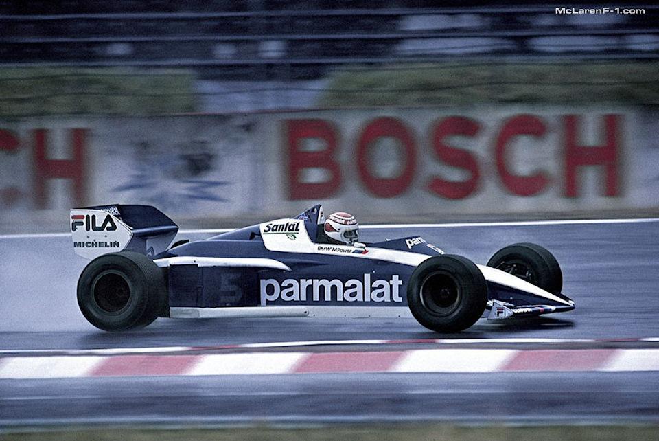 Нельсон Пике за рулем Brabham BT52B BMW на Гран При Германии '83.
