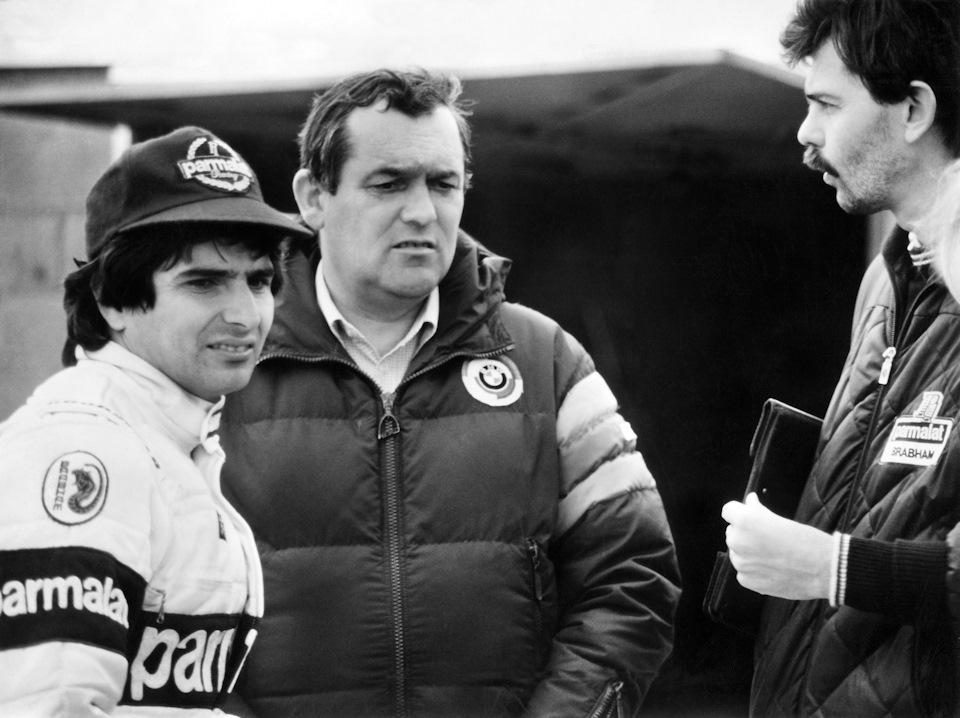 Нельсон Пике, Пауль Роше и Гордон Марри. 1982 год.