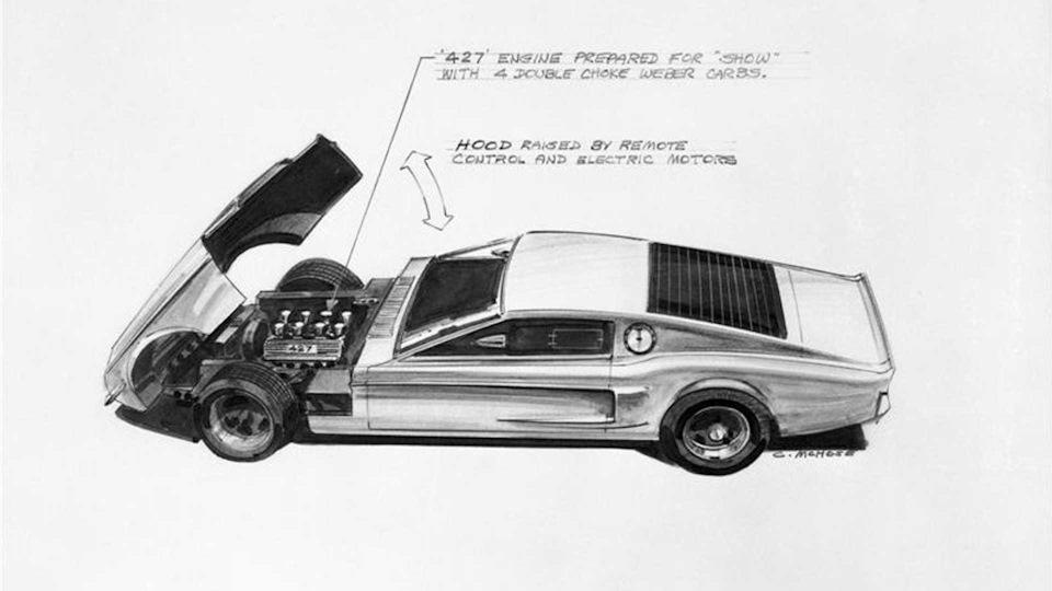 эскиз Ford Mustang Mach 1