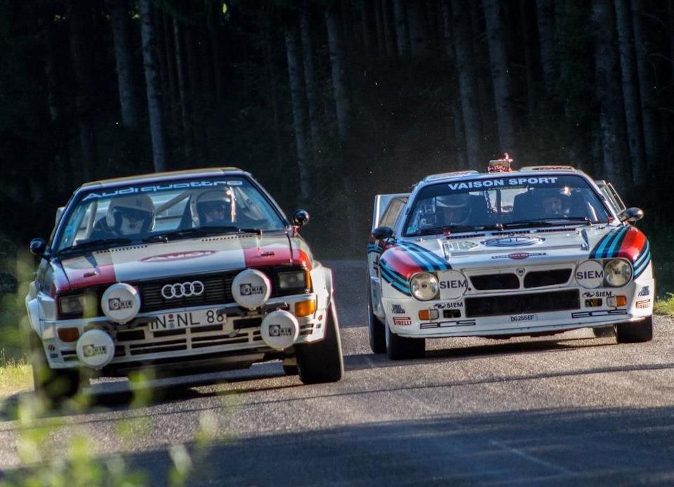 Audi Quattro и Lancia Rallye 037
