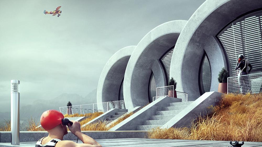 архитектура в автомобильной теме