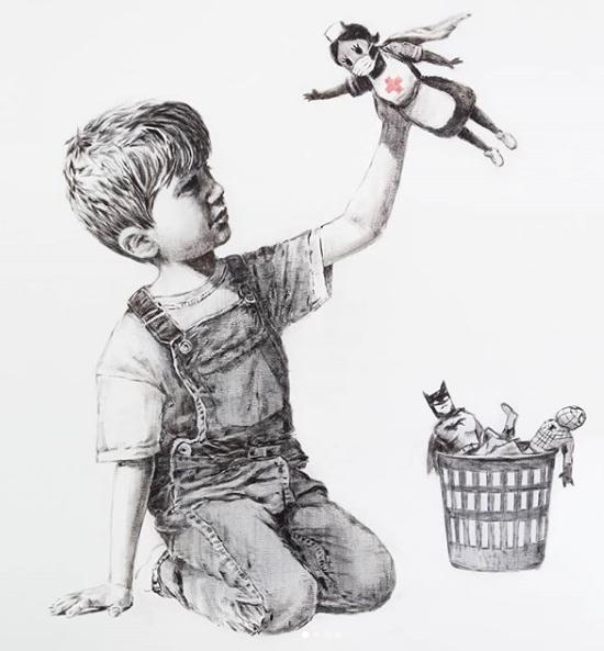 Banksy посвятил новую работу медицинским работникам