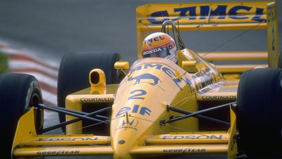 Lotus 100T Нельсона Пике, который тестировал Херберт