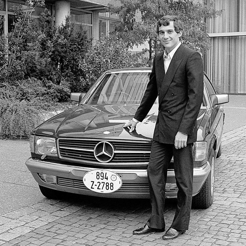 Айртон забирает свой Mercedes-Benz 500SEC из Штутгарта