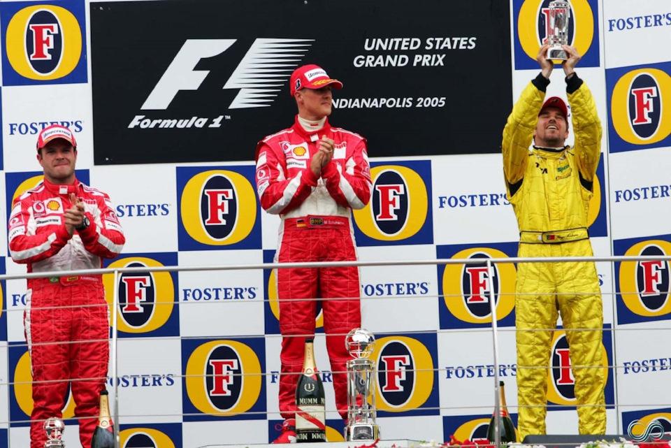 Гран-при США 2005 года подиум