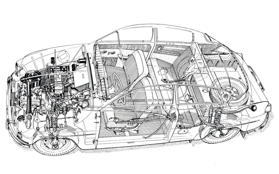 Saab 96 схема