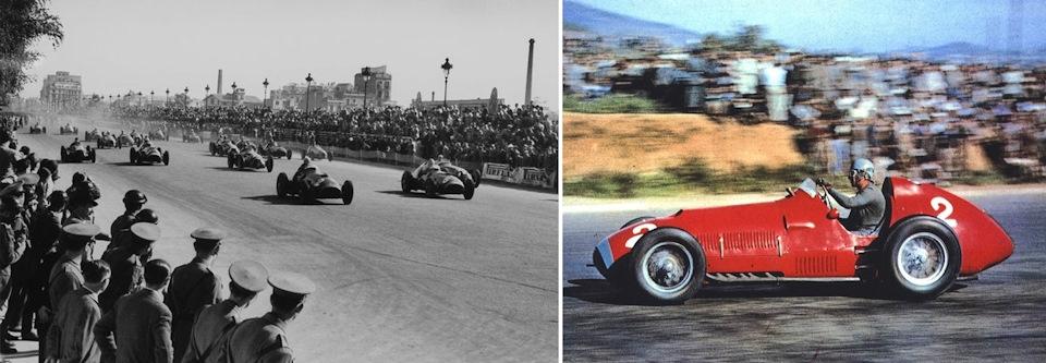 старт Гран При Испании '51. Альберто Аскари