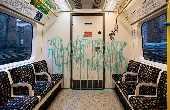 Новое творение Бэнкси нашли в лондонском метро