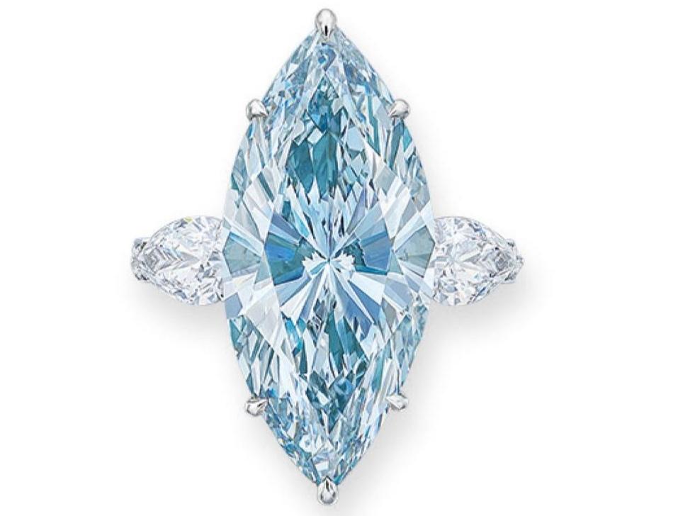 голубой бриллиант продан на аукционе