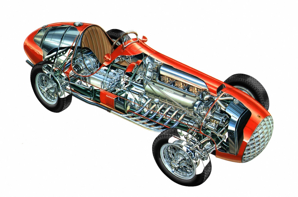 схема Ferrari 375