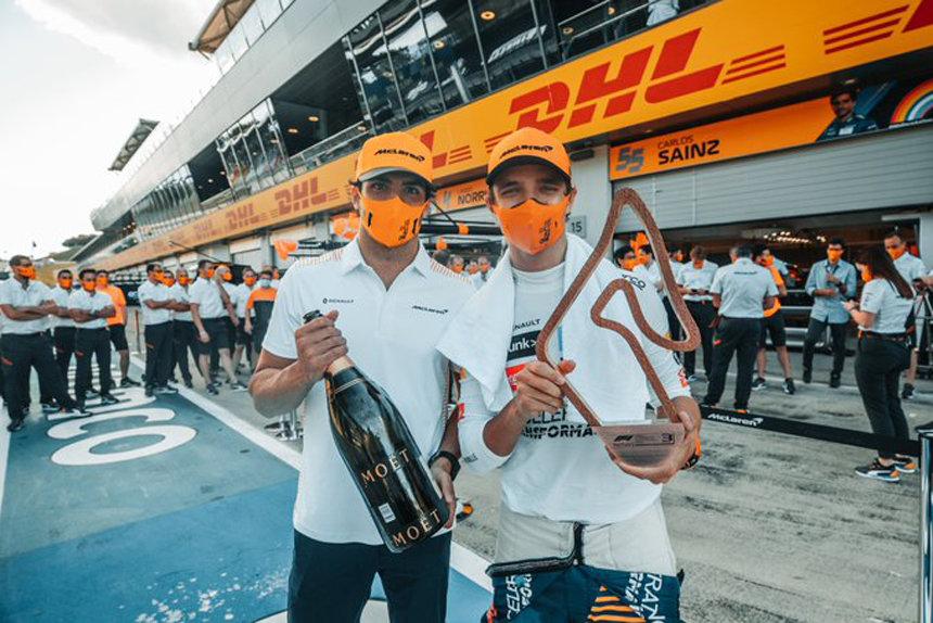 McLaren подиум