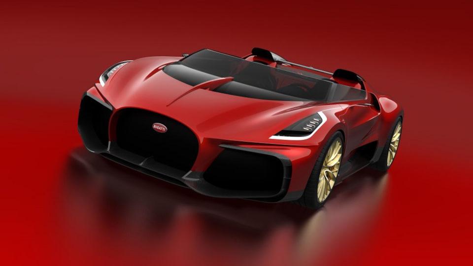 Veyron Barchetta Concept фото