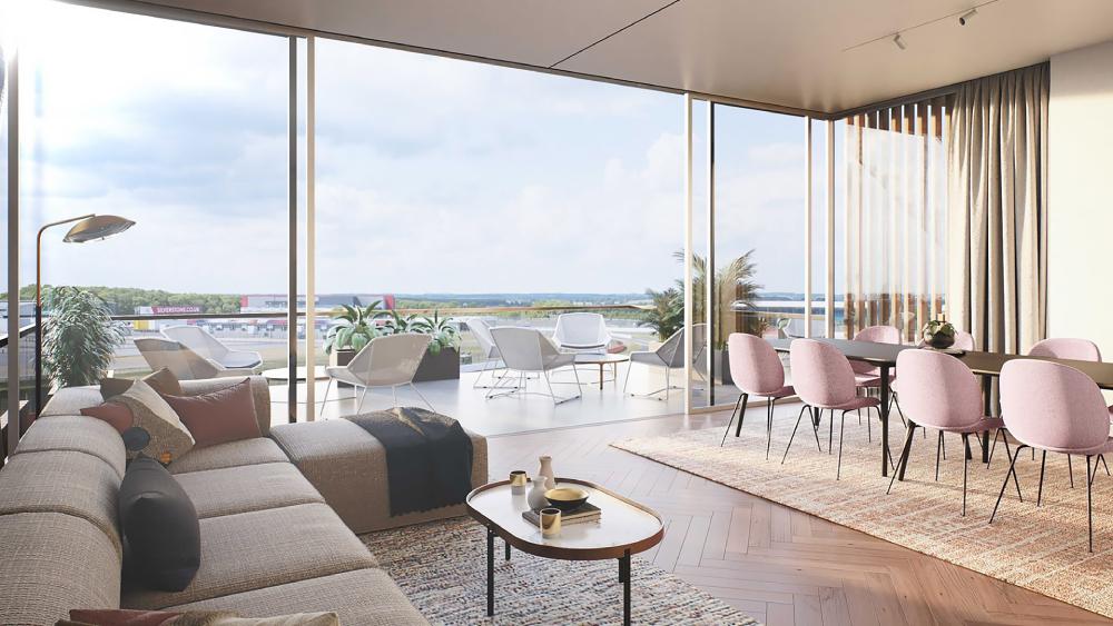 интерьер комплекса недвижимости в великобритании