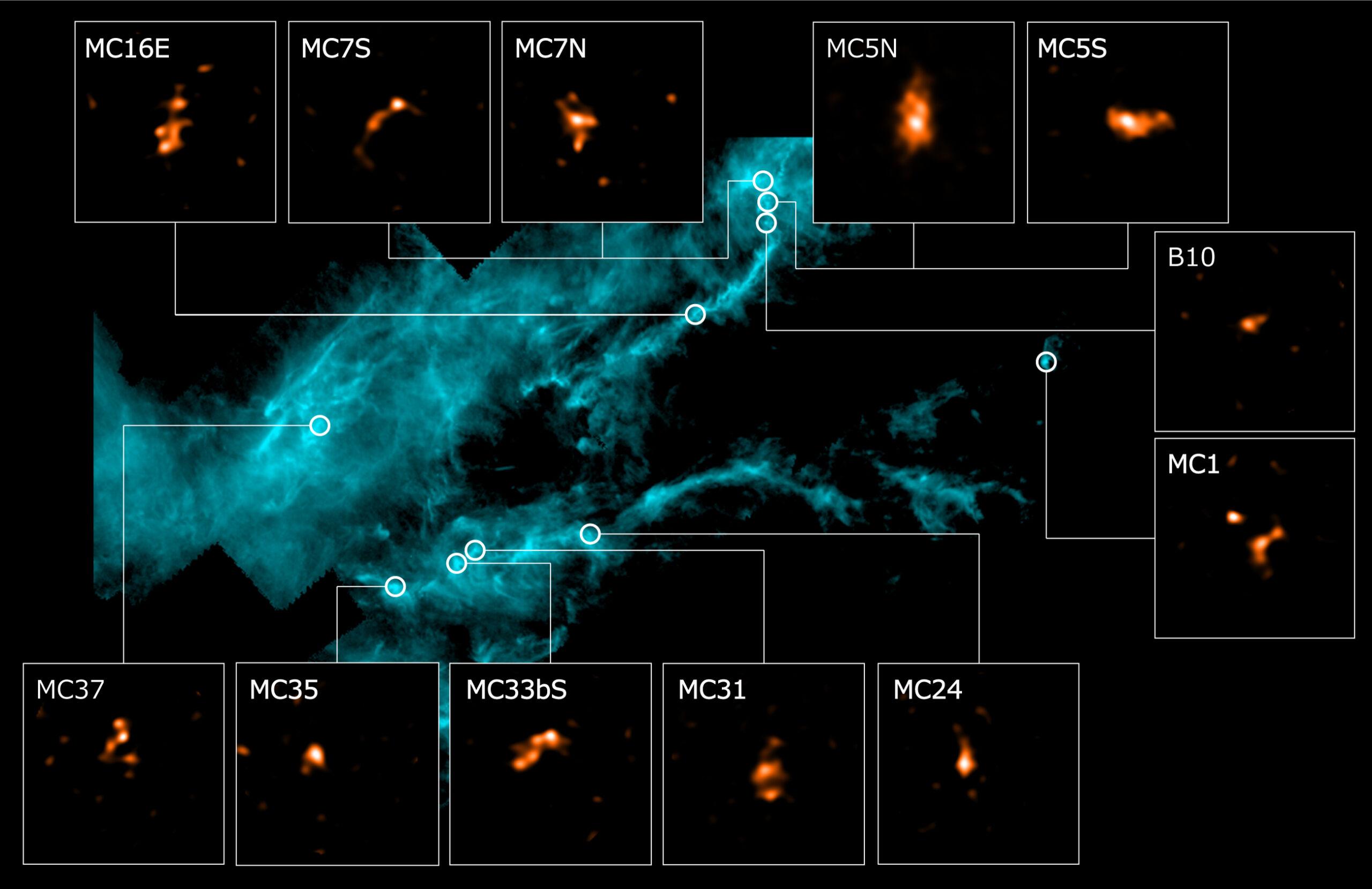 изображение молекулярного облака Тельца