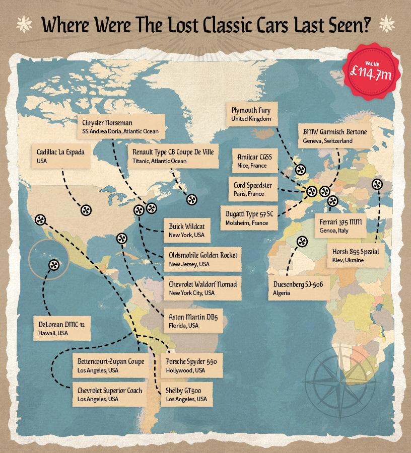 Пиратская карта автомобильных сокровищ