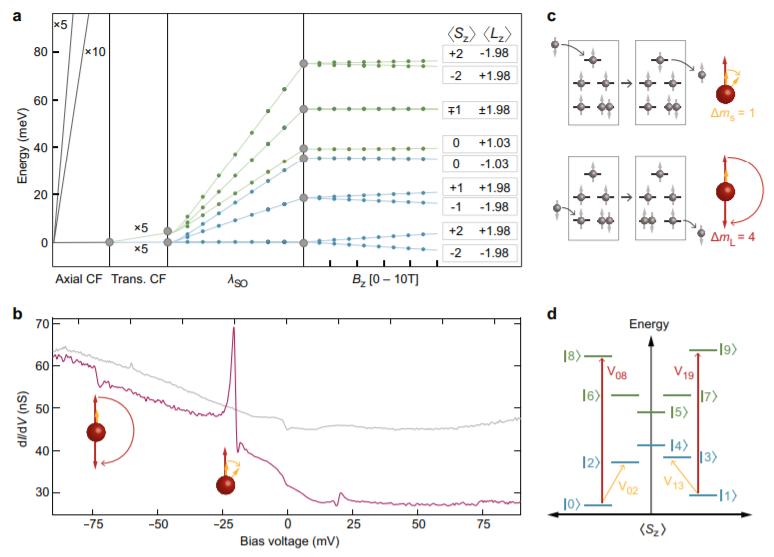 cмоделированное расщепление энергетических уровней атома в магнитном поле