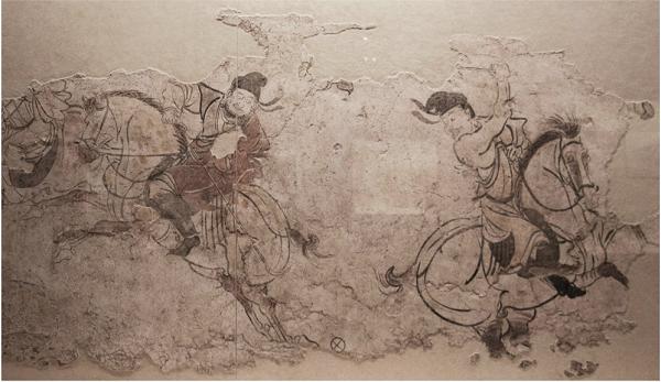 Роспись из могилы Ли Янга, провинция Шанхай, VIII век нашей эры