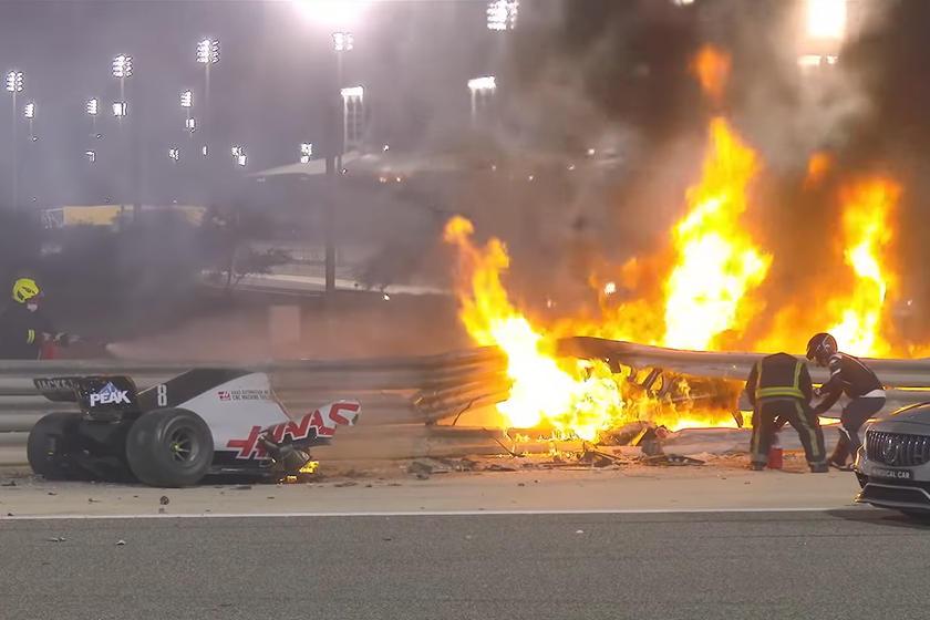 Ромен Грожан пережил одну из самых ужасных аварий в истории Формулы-1